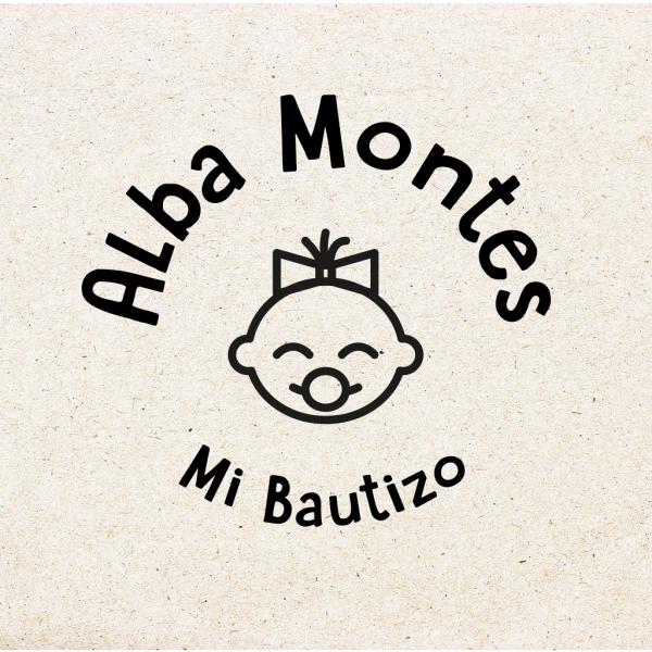 "Sello para Bautizo Personalizado ""Baby Girl"""