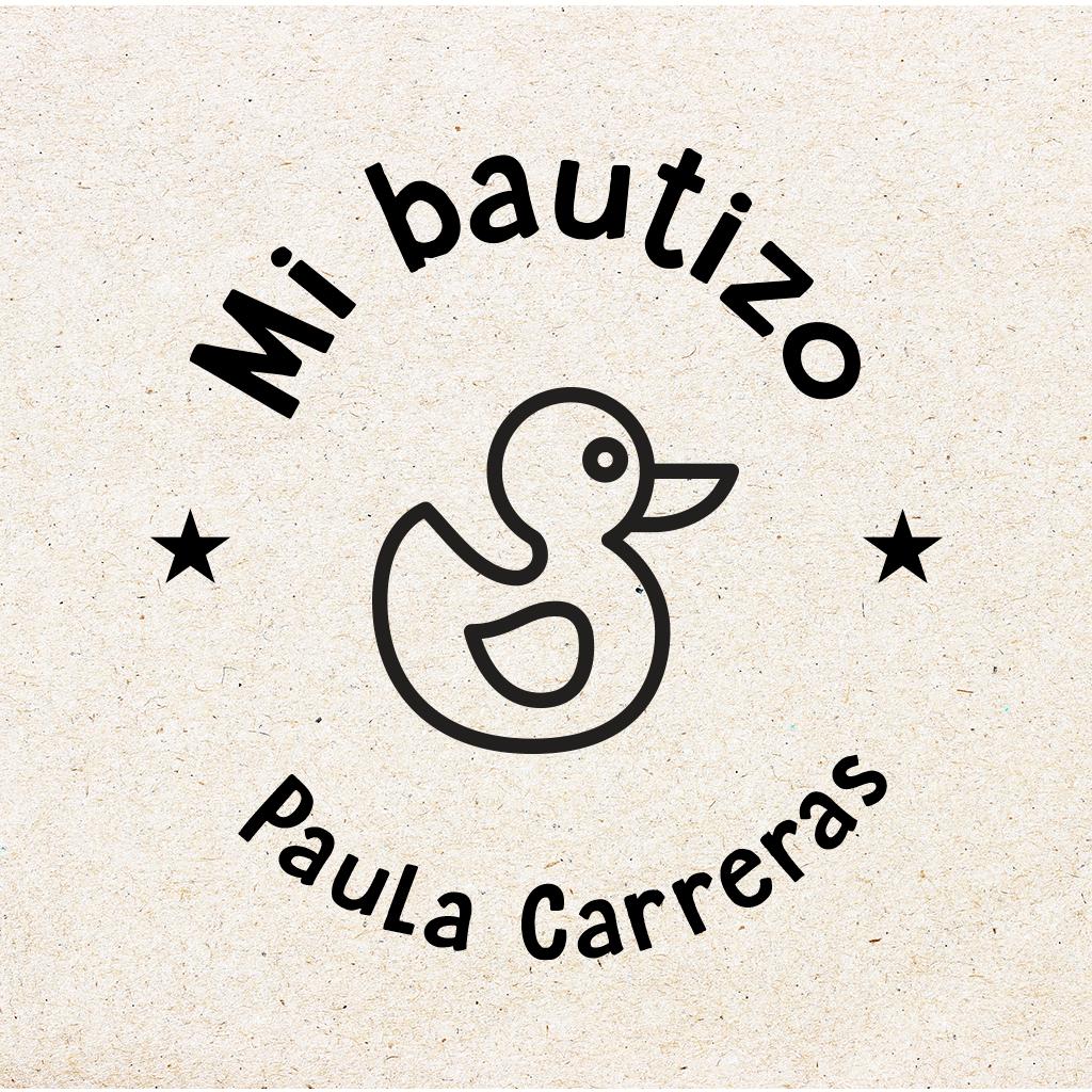 """Sello para Bautizo Personalizado """"Pato"""""""
