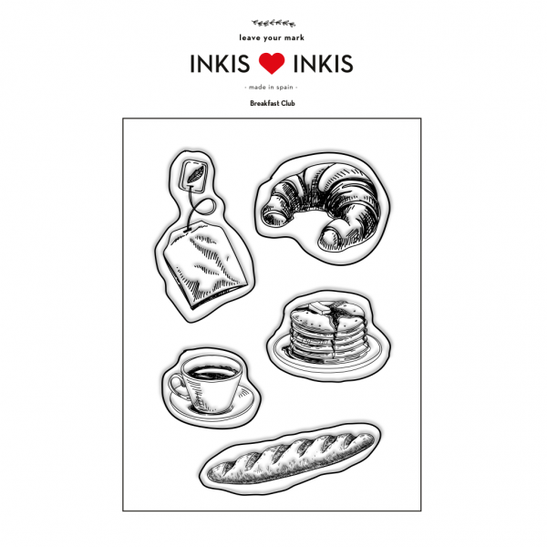 Set Inkis 5 sellos Scrapbooking - Breakfast Club I