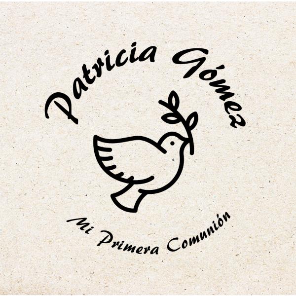 """Sello para Comunión Personalizado """"Paloma"""""""