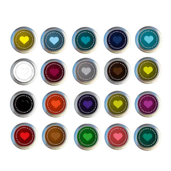 Tinta Inkis especial para scrapbook - Pack de 20 Colores diferentes