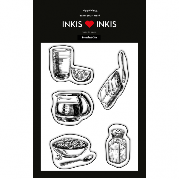 Set Inkis 5 sellos Scrapbooking - Breakfast Club II
