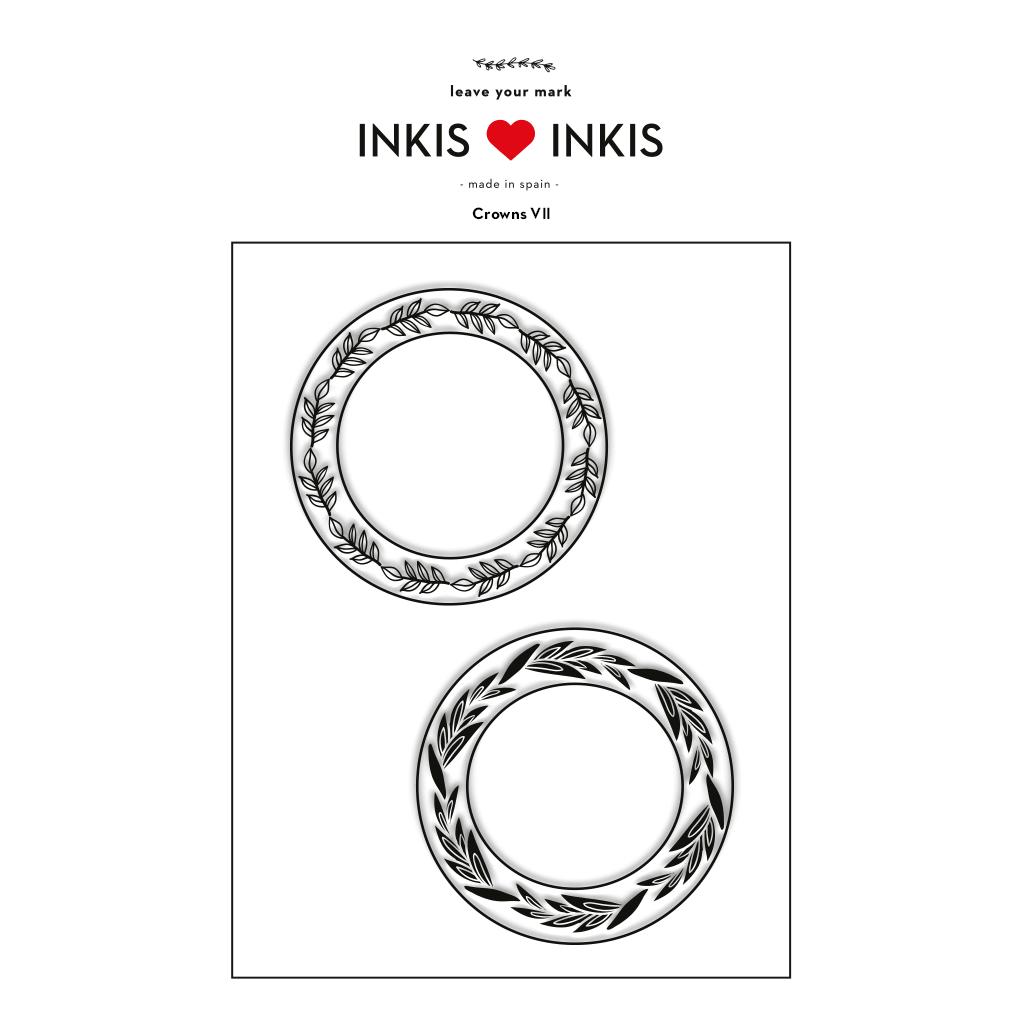 Set Inkis 2 sellos Scrapbooking - Crowns VII