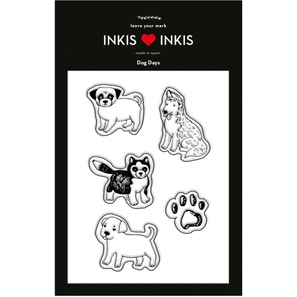 Set Inkis 5 sellos Scrapbooking - Dog Days I