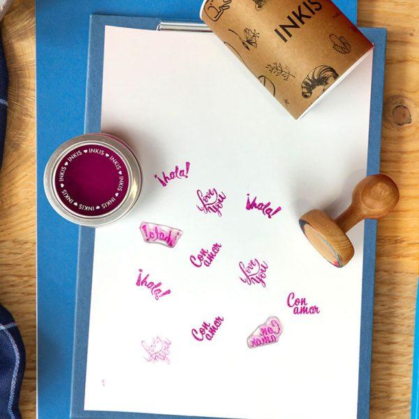Tinta Inkis especial para Scrapbook - Color Violeta Berry