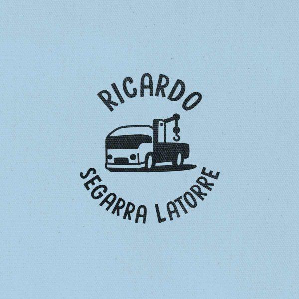 Sello Redondo Vehículo Grúa