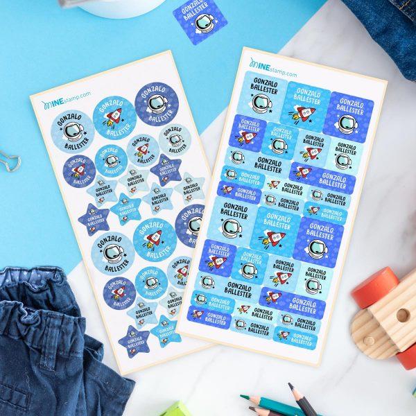 Packs de etiquetas textiles y adhesivas